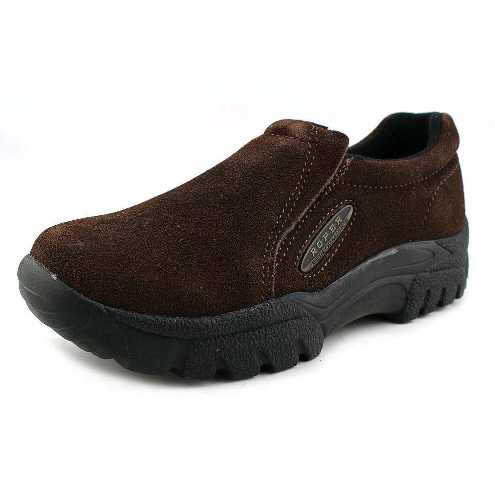Mahogany Brown 10 Wide Mahogany Brown 10 Wide Roper Mens Performance Sport Suede Slip On shoes