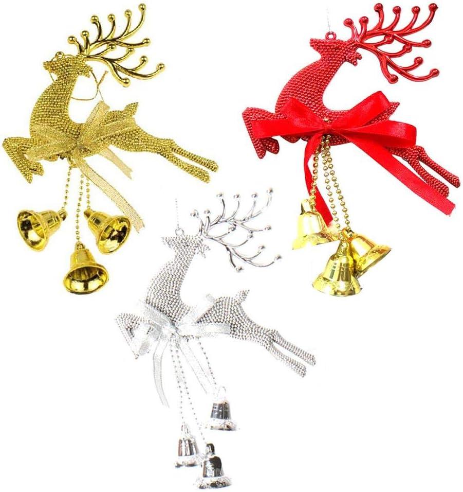 D/écoration De Sapin De Noel Nouveau Rouge Argent Or Boules De No/ël Arbre De No/ël Ornement Renne F/ête D/écoration