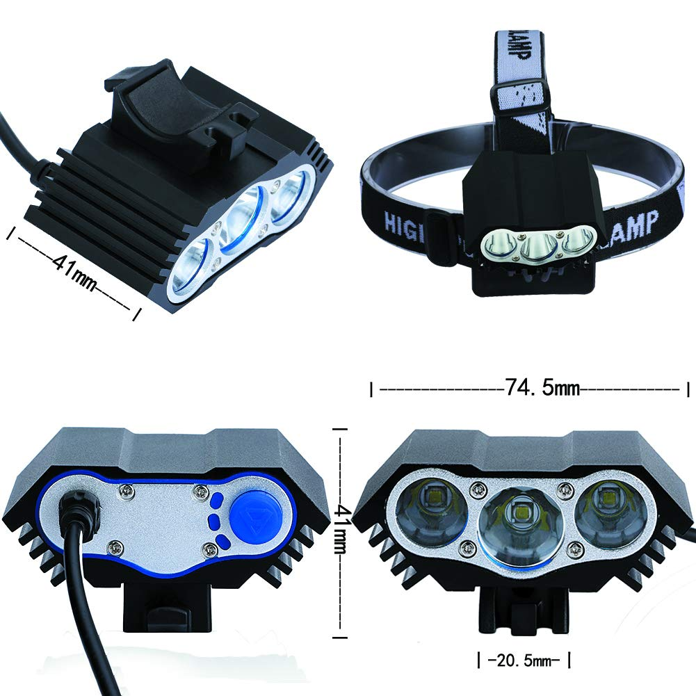 Set Lampe V/élo LED Eclairage Avant LYNOON Lumi/ère V/élo IPX6 /étanche Lumi/ère Avant Arri/ère Lampe de Poche Ext/érieure Bicyclette Eclairage V/élo Ultra Lumineux 7500 lumens