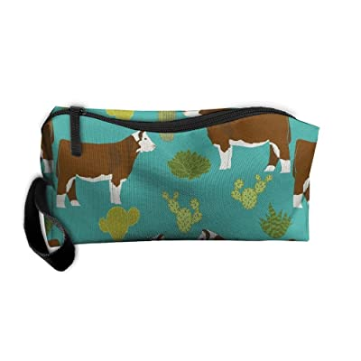 NSDxfckSO195 NEW Hereford Cow Women¡¯s Travel Cosmetic Bags Small Makeup Clutch Pouch Cosmetic And Toiletries