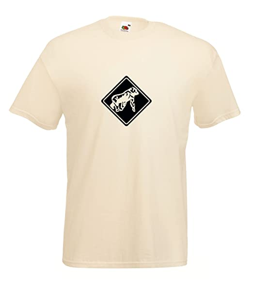 Diseño de Gorila de señal de Safari T-Camiseta de Manga Corta tamaños   Amazon.es  Ropa y accesorios 107d73c7c2892
