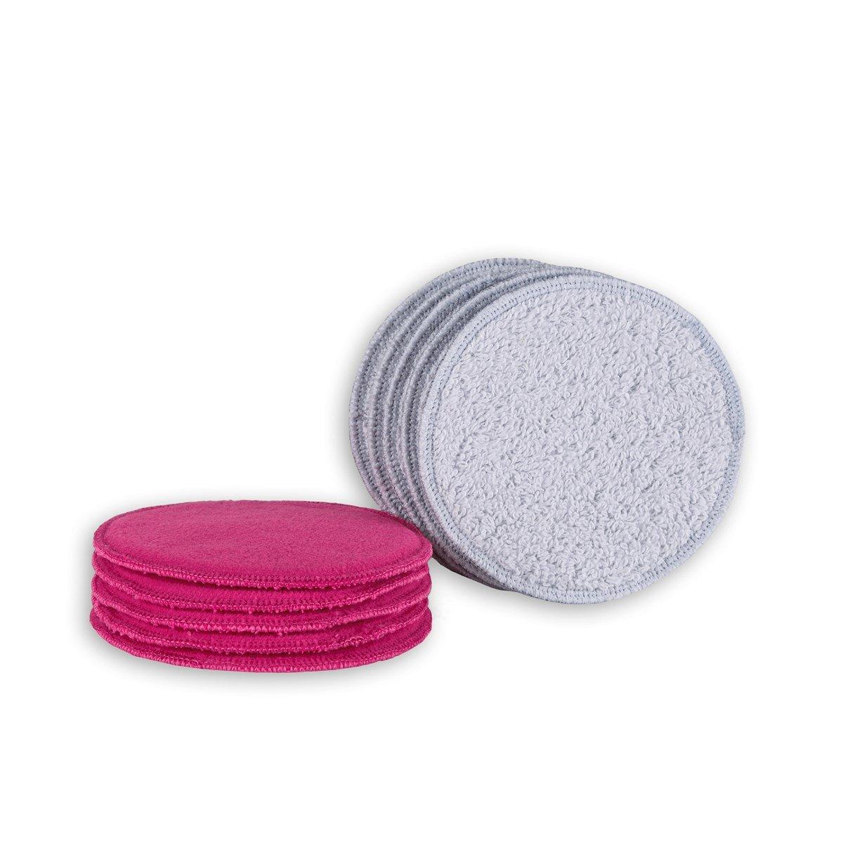 Lot de 10 cotons d/émaquillants lavables et r/éutilisables