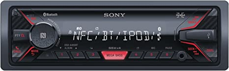 Sony DSX-A400BT Media Receiver with NFC and Bluetooth Black//Red