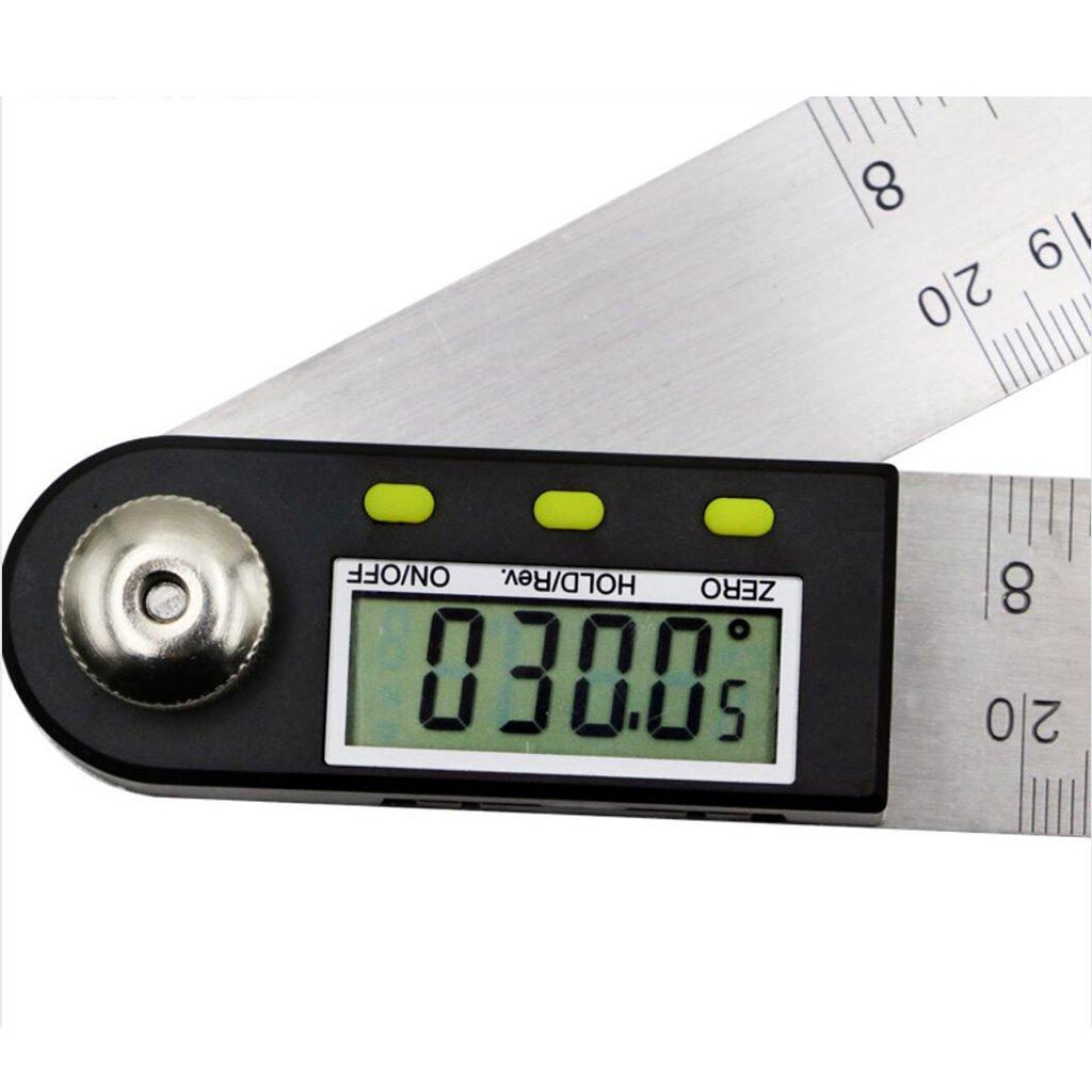 Homyl 360/° Digital Winkelmesser Winkelregel Messger/ät Winkelmessger/ät 300m 12