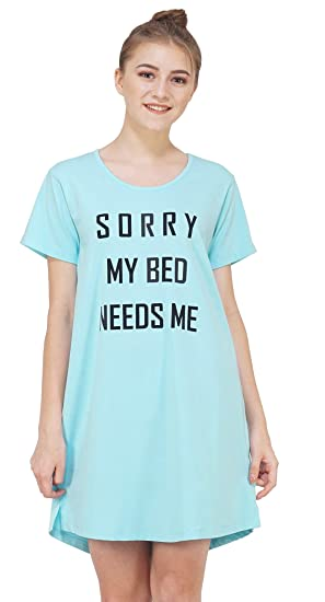 240e9232b4 Artemis Text Printed Comfortable Cotton Sleep Shirt Sleep Gown Night Shirt  Night Gown