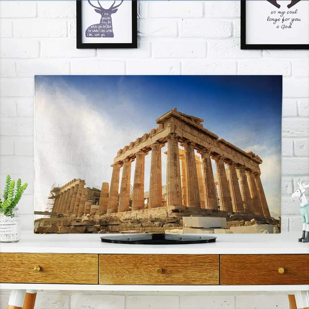 Philiphome Protect Your TV - Flor Amarilla aislada Sobre Fondo Blanco, diseño gráfico para Proteger tu televisor (Ancho 19 x Alto 30 Pulgadas/TV 32 Pulgadas): Amazon.es: Hogar