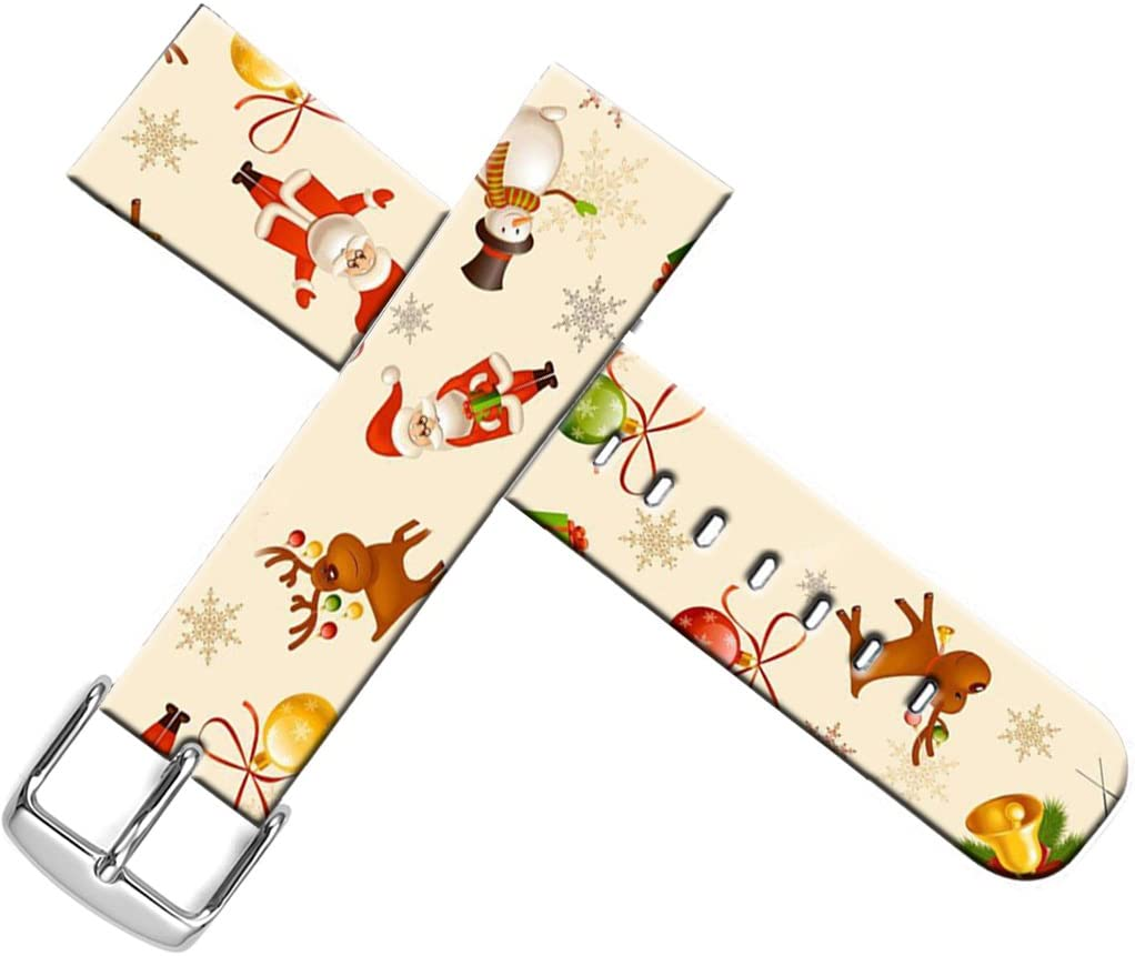 Strap Compatible for Apple Watch Series SE/6/5/4/3/2/1 42mm/44mm Sport - ENDIY Leather Band Replacement for Iwatch Women Sport Xmas Christmas Theme Design Pattern Christmas Father Snowman Reindeer