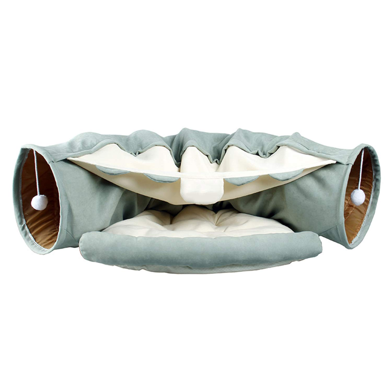 CLAIQY Cat Tunnel Toy,Foldable Cat Tunnel Three-Way Cat Channel Pet Supplies by CLAIQY