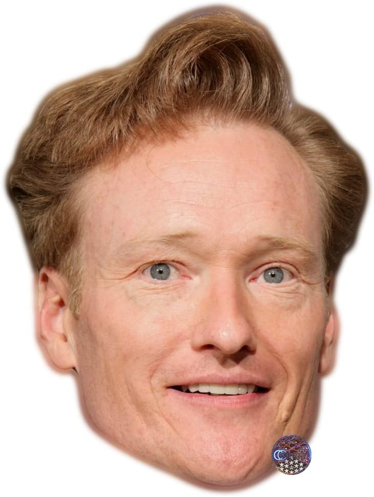 Conan O/'Brien Celebrity Mask Card Face and Fancy Dress Mask