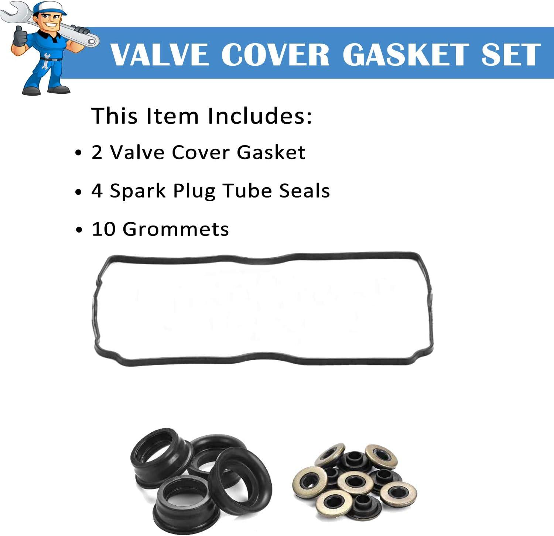 Fits 98-12 Subaru Saab 2.5L SOHC EJ22E EJ25 Valve Cover Gaskets Seal Grommet