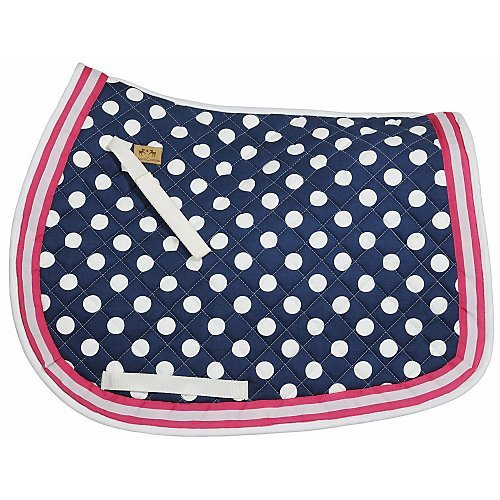UPC 845409065850, Equine Couture Emma Saddle Pad Navy/Pink