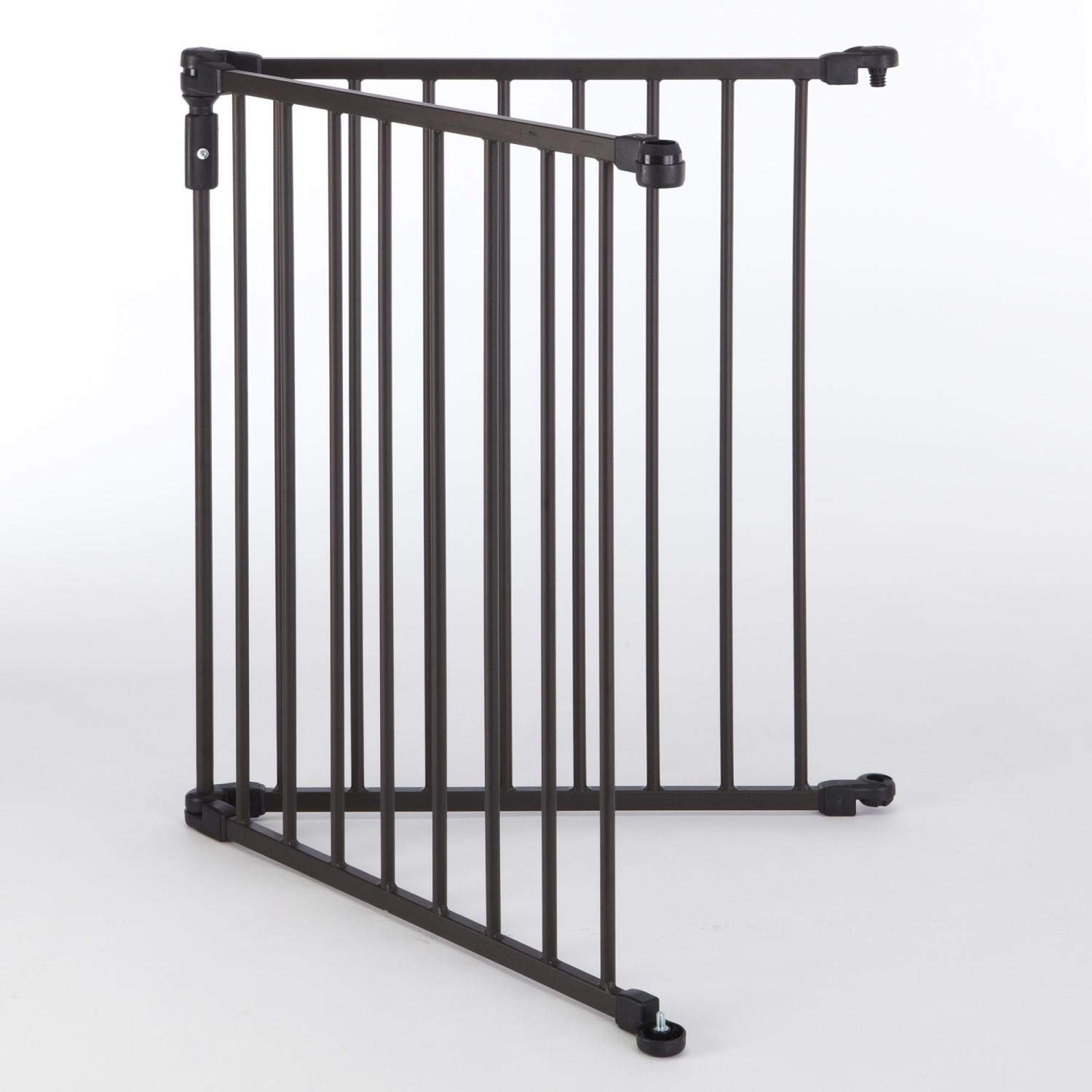 North States 2-Panel Extension for 3-in-1 Arched D cor Metal Superyard Adds up to 48 for an Extra-Wide gate or Play Yard 48 Width, Matte Bronze