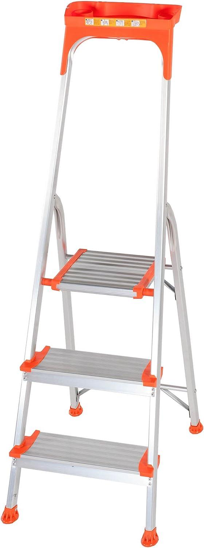 Summit 1206-033 - Escalera de 3 peldaños (profundidad escalon 125 mm, plataforma antiaderente) Diseñada con bandeja superior multi función: Amazon.es: Bricolaje y herramientas