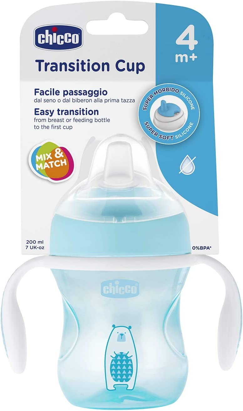 4/m 200/ml Chicco Tasse /à bec anti-fuites 00006911100000/Transition