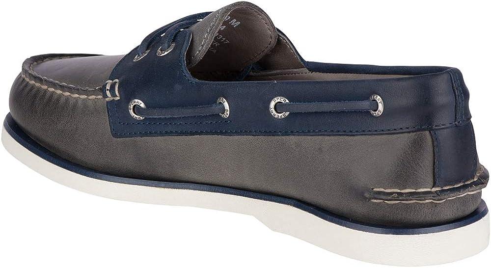 Sperry Authentic Original 2-Eye 9294398 Damen Halbschuhe Grey Navy