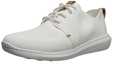 0d74f1bead8 CLARKS Men s Step Urban Mix Sneaker White Textile Knit 070 ...