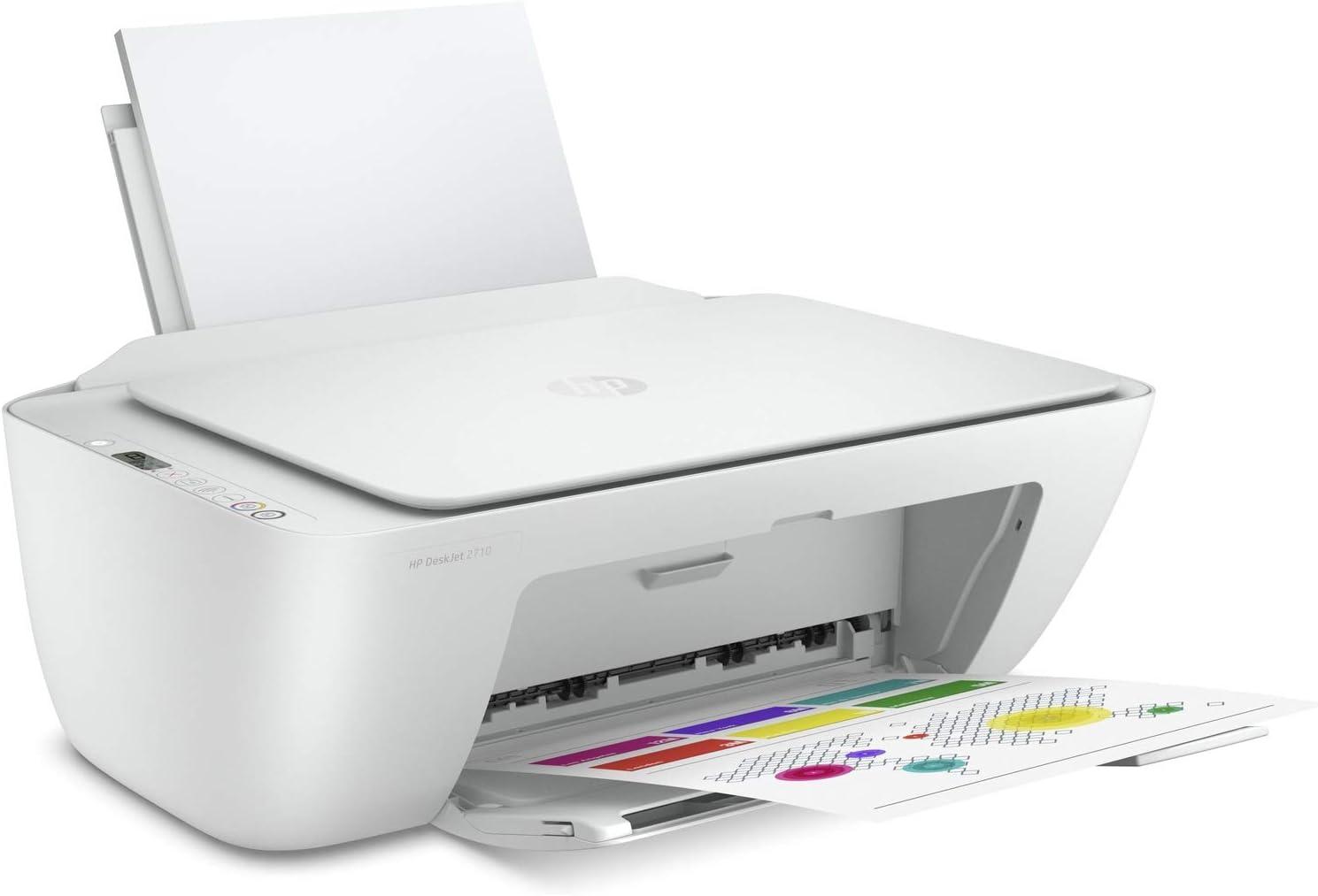 HP DeskJet 2710 - Impresora multifunción, Color Blanco, pequeña