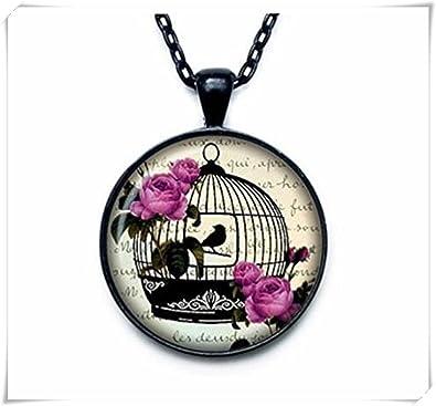 Collar Jaula de Pájaros Colgante jaula de pájaros Jaula de Pájaros ...