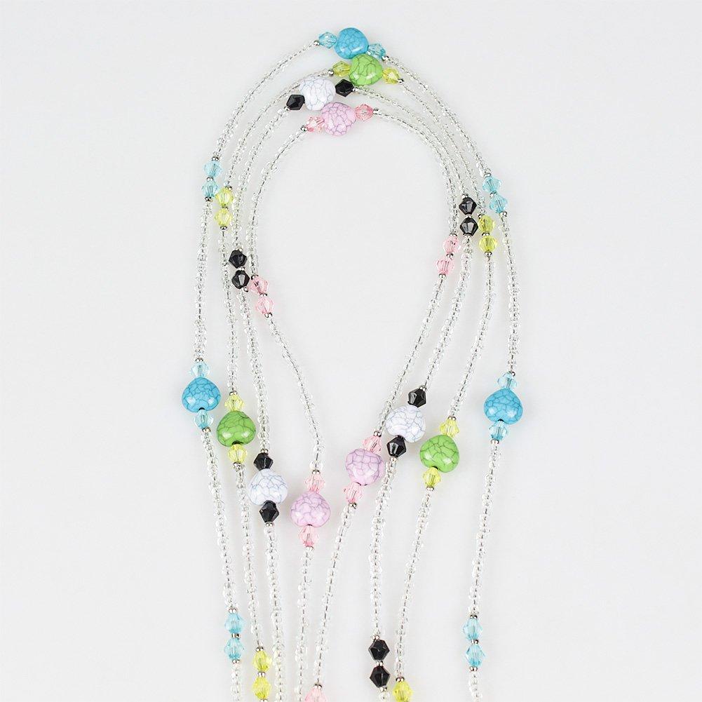 Soleebee 4 Pièces Corde Chaîne Attache pour Lunettes Porte-Lunettes avec  Perles en Cristal Artificielle bc99b9f5fd1c
