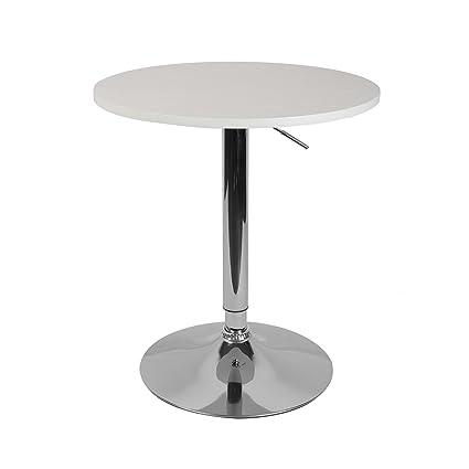 Amazon Com Lch 23 6 Round Dining Bar Table Adjustable 360 Swivel