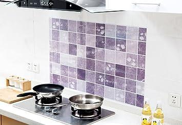 XIN NA RUI Stickers Carrelage 3D 10 comprim/és Accueil d/écoration Vinyle mosa/ïque Peau et backsplash Auto-adh/ésif Stickers carrelage 3D Cuisine