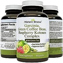 Tri-Blend - Pure Garcinia Cambogia 85% HCA, Green Coffee Bean and Raspberry Ketones Complex- By Nature Bound
