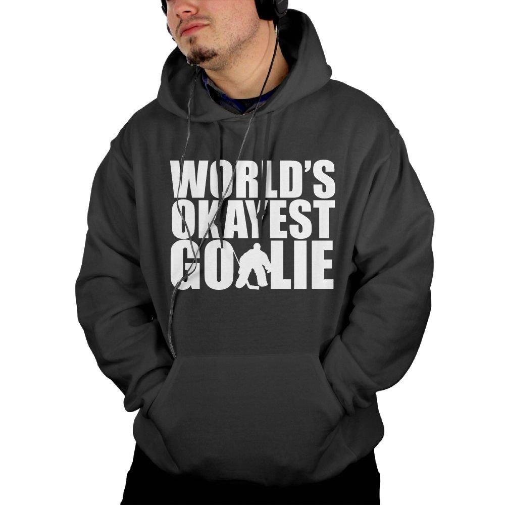 World's Okayest Goalie Man's Cotton Fashion Hooded Sweatshirts