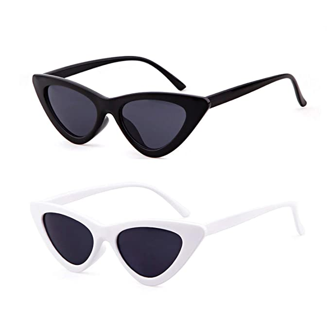 90f1095baf44 Retro Cat Eye Sunglasses,Stylish Triangle Bowknot Frame Shaped Sunglasses  Lightweight Frame HD Polarized Lenses