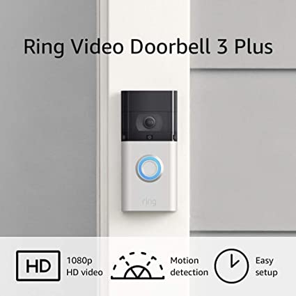 Amazon.com: Ring Video Doorbell 3 Plus – enhanced wifi, improved motion detection, 4-second video previews, easy installation: Amazon Devices