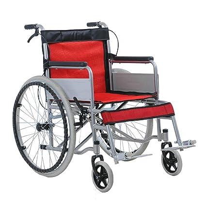 DPPAN Transporte Silla de ruedas Plegable ligero para adultos Asiento ancho, Steel Pipe Drive Medical