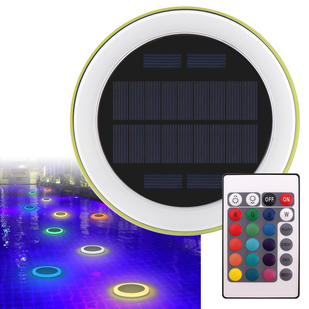 Solar Floating Light IP68 Waterproof Solar LED Swimming Pool Lights Hotel Fountain LED Lights With Remote Control for Camping Beach Home Garden Halloween Christmas Party BBQ Wedding Holiday Decoration