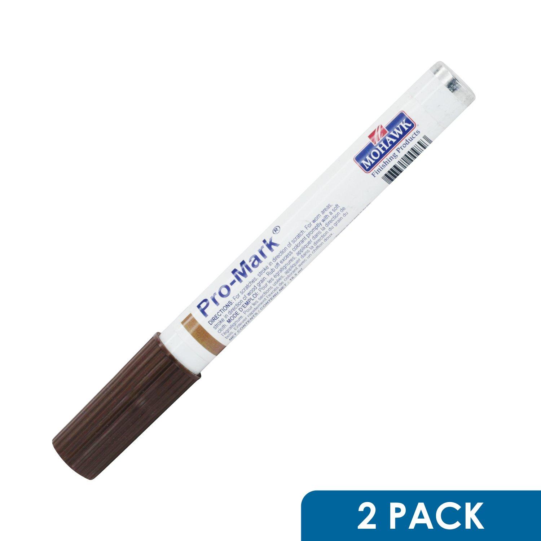 2 Pack Mohawk Pro Mark Wood Furniture Cabinet Floor Touch Up Marker Warm Brown Walnut M267-0094