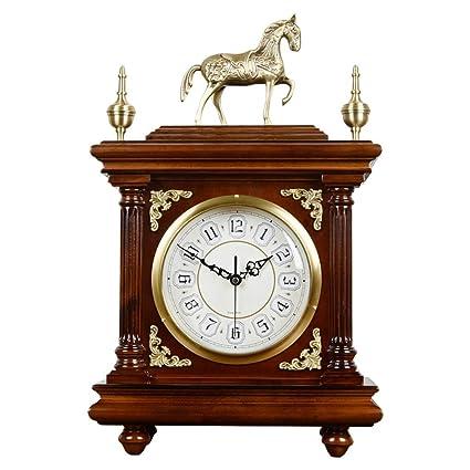 Relojes de mesa para la Sala de Estar Decoración Dormitorio Sin tictac Reloj de Escritorio Vintage