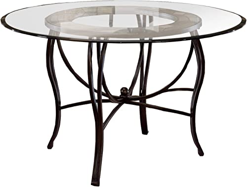 Hillsdale Furniture Dining Table, Black Gold Slate Mosaic