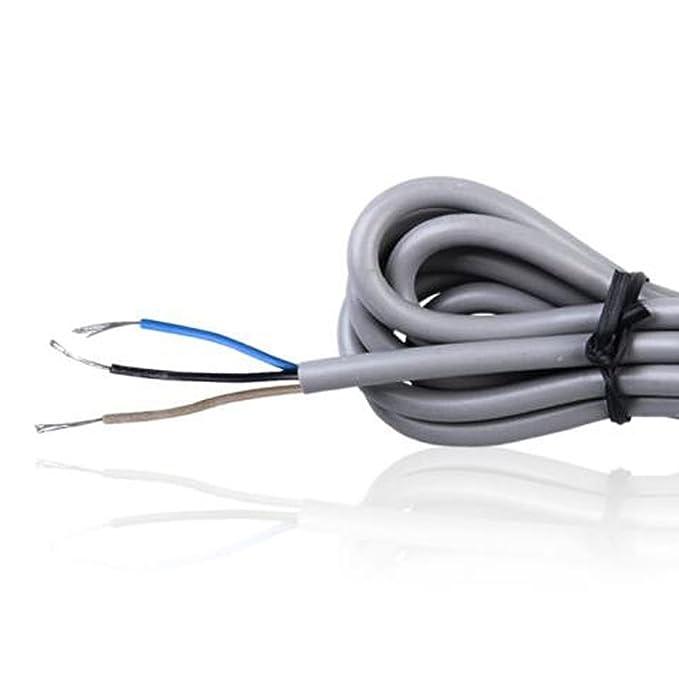 M18 8MM LJ18A3-8-Z/AX Detector inductivo de proximidad de sensor de metal NPN NC tres líneas normalmente cerradas: Amazon.es: Bricolaje y herramientas
