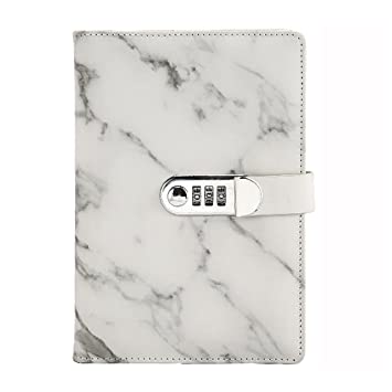 Ai-life A5 Größe PU-Leder-Notebook (Marmor-Muster), Draht-Bindung ...