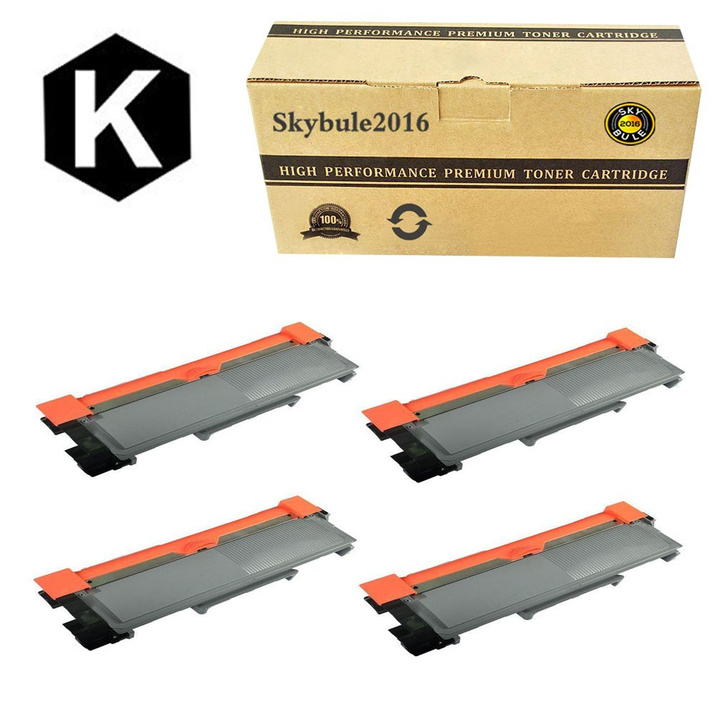Skybule2016 Compatible Replement for Brother TN660 TN630 4Pack High Yield Toner Cartridge (Black)