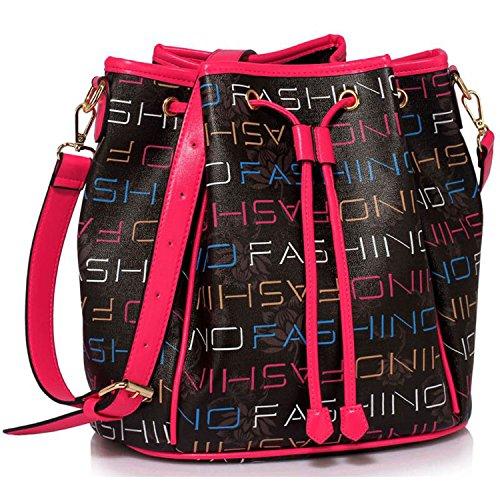 Xardi London Iconic sintetico con coulisse donne Sling borsa a tracolla, borsa a tracolla borse Black