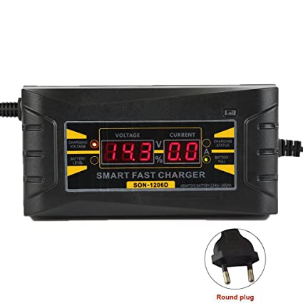 12V 6A coche Smart moto batería cargador pantalla LCD anti-protección reversa de la conexión