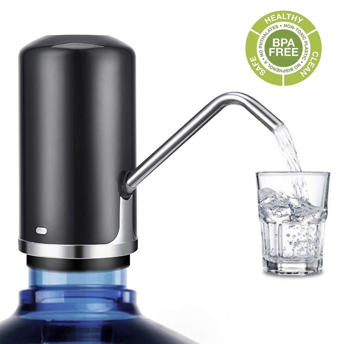Dispenser de Agua Electrico para Bidon ZEONKIT Negro