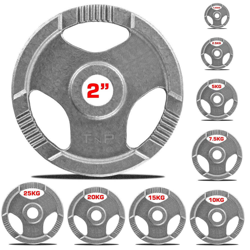 Tri Grip Radial TnP Distribution Olympic TriGrip Weight Plates Cast Iron Weights Plate Set 1.25kg 2.5kg 5kg 10kg 15kg 20kg 25kg TriGrip Disc