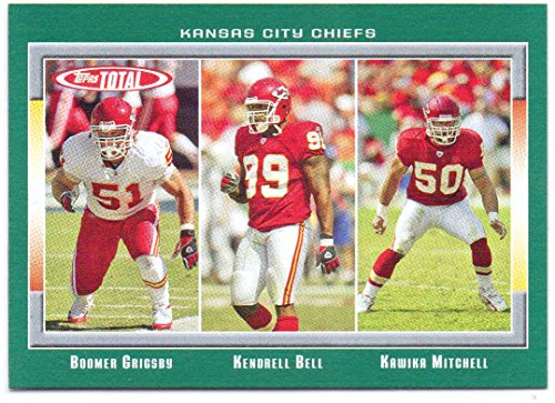 Illinois Bell (Boomer Grigsby, Kendrell Bell, Kawika Mitchell 2006 Topps Total #230 - Kansas City Chiefs)