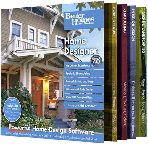 Amazon Com Better Homes And Gardens Home Designer 7 0 Old Version