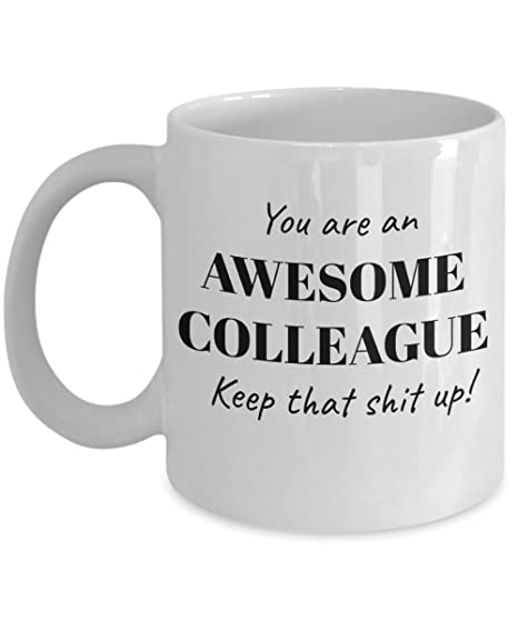 c85152faaa63 Awesome Colleague Coworkers Boss Mugs Gifts Funny Best Coffee Tea Cup  Friend Retirement Goodbye Leaving Farewell