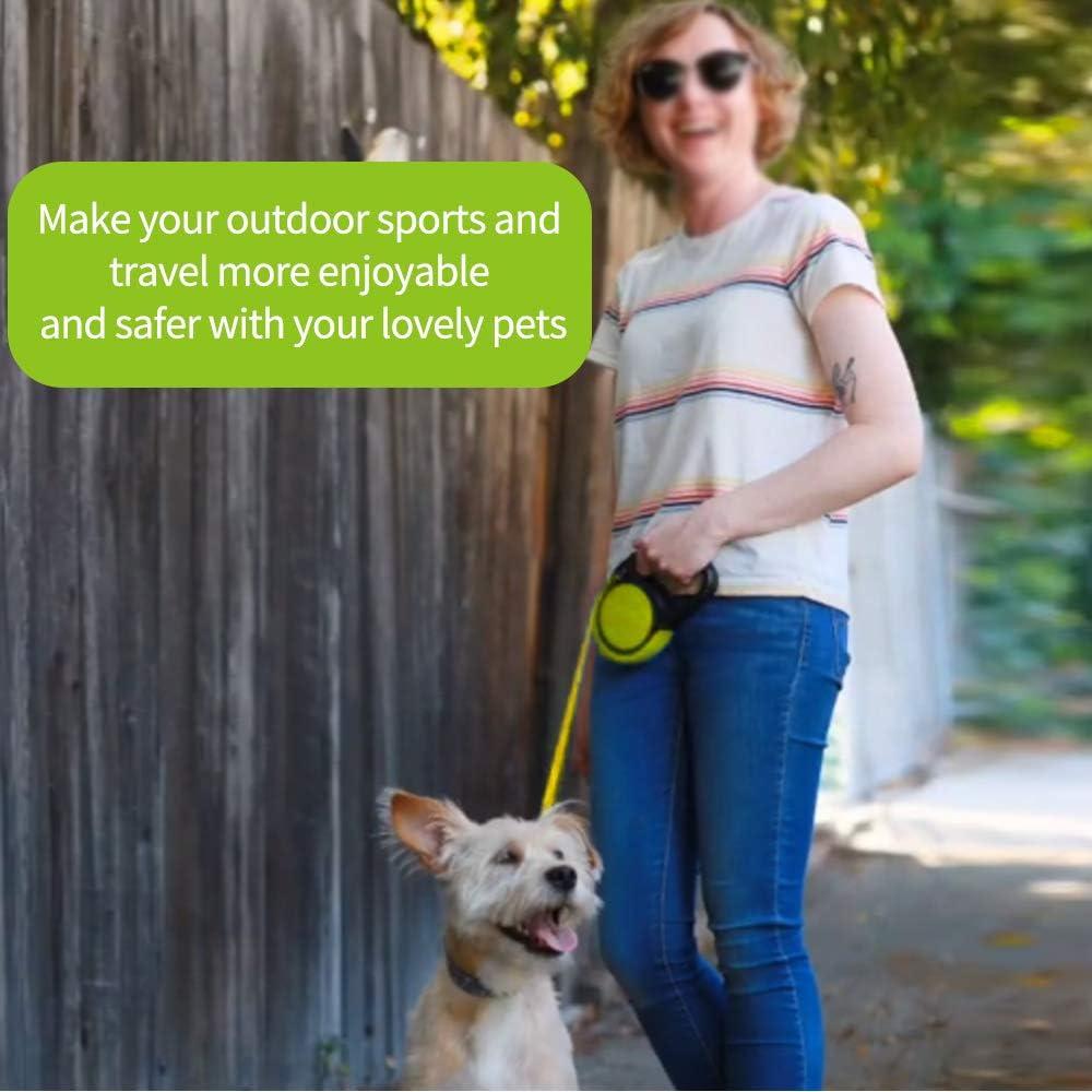 Verde Eastlion Correa Perro Extensible 5m,Reflectantes Mango Antideslizante,Correa Cuerda Retractil Nylon para Perros Peque/ños y Medianos hasta 20 kg