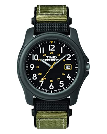 bf0fffe038d3 Amazon.com  Timex Men s T42571 Expedition Camper Green Nylon Strap ...