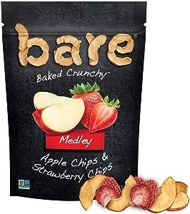 Baked Medley Apple & Strawberry Chips Bare Fruit 1.6 oz Bag