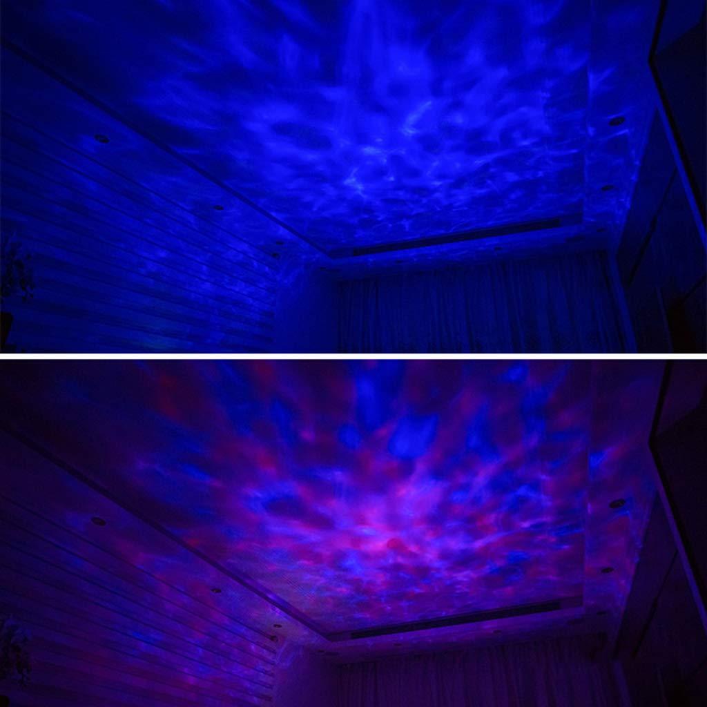 Enyu Ocean Ocean Ocean - Proyector de luz nocturna con 7 modos de luz LED para reproductor de música, amplificador de audio, altavoz con mando a distancia, diseño creativo 7a44ca