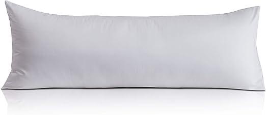 Oubonun Premium Body Pillow Cover (100% Cotton - 800 Thread Count) - XL High Thread Count Body Pillowcase - Luxury 21 x 54 Body Pillow Case - White Long Body Pillow Cover - Long Pillow Case