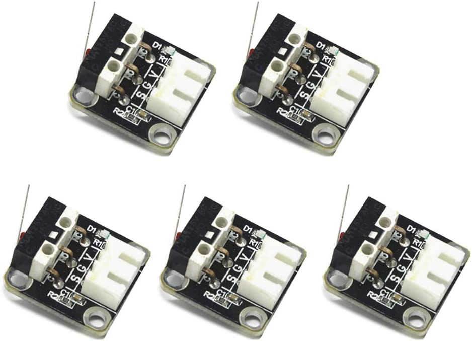 WE-WHLL 5Pieces 3D Printer Accessories X//Y//Z Axis End Stop Limit Switch 3Pin N//O N//C Control Easy to Use Micro Switch for CR-10 Series Ender-3